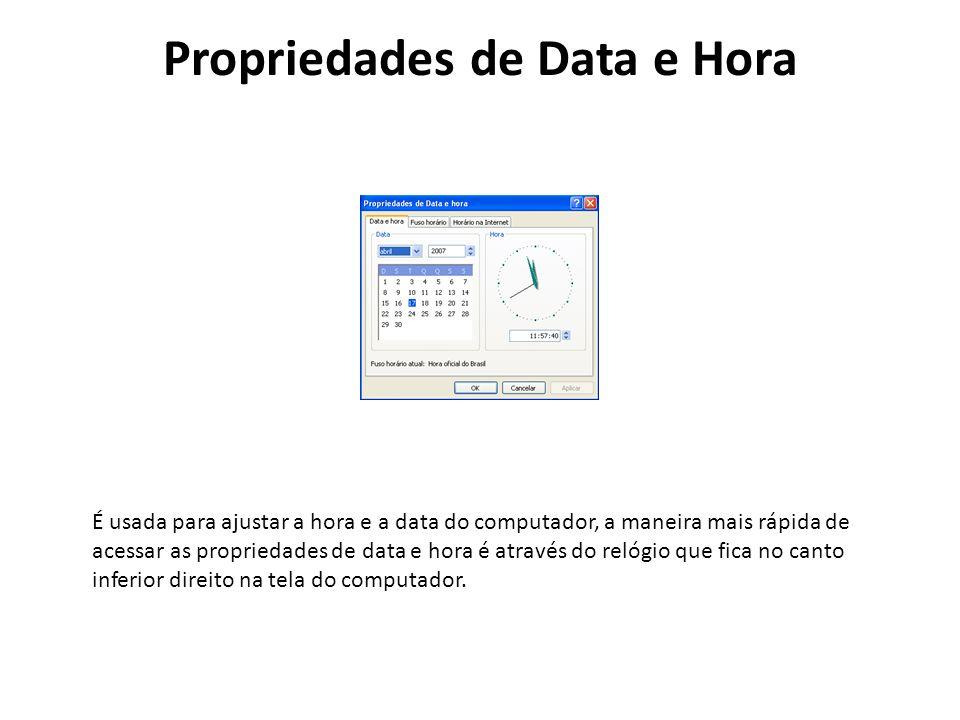 Propriedades de Data e Hora