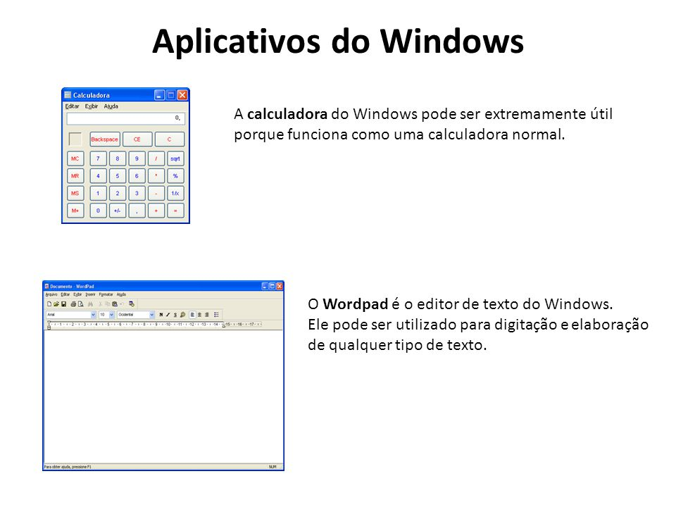 Aplicativos do Windows