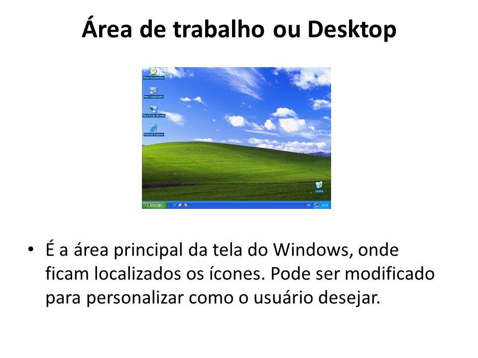 Área de trabalho ou Desktop