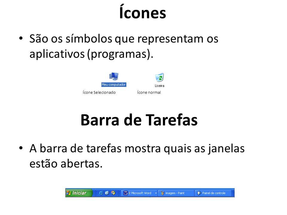 Ícones Barra de Tarefas