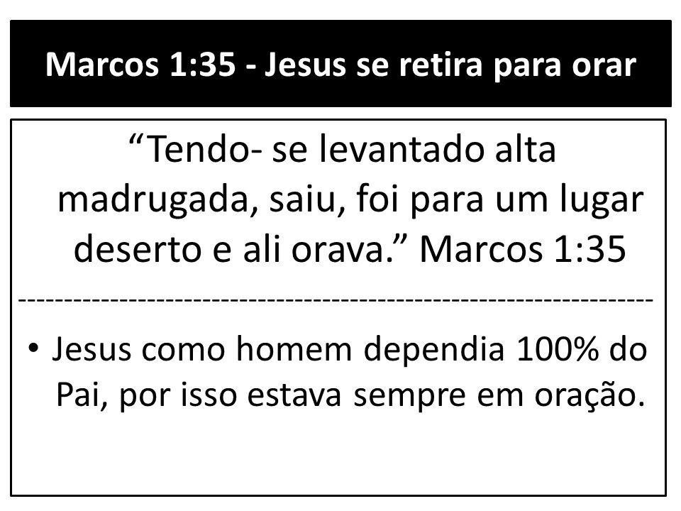 Marcos 1:35 - Jesus se retira para orar