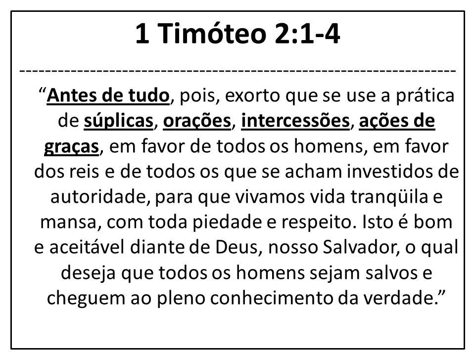 1 Timóteo 2:1-4