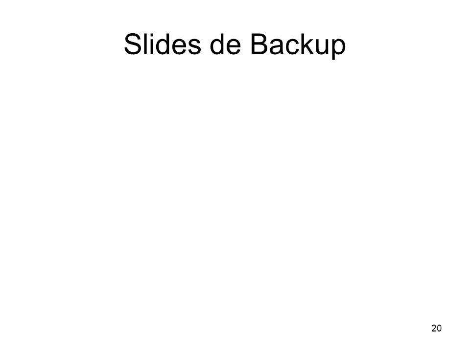 Slides de Backup