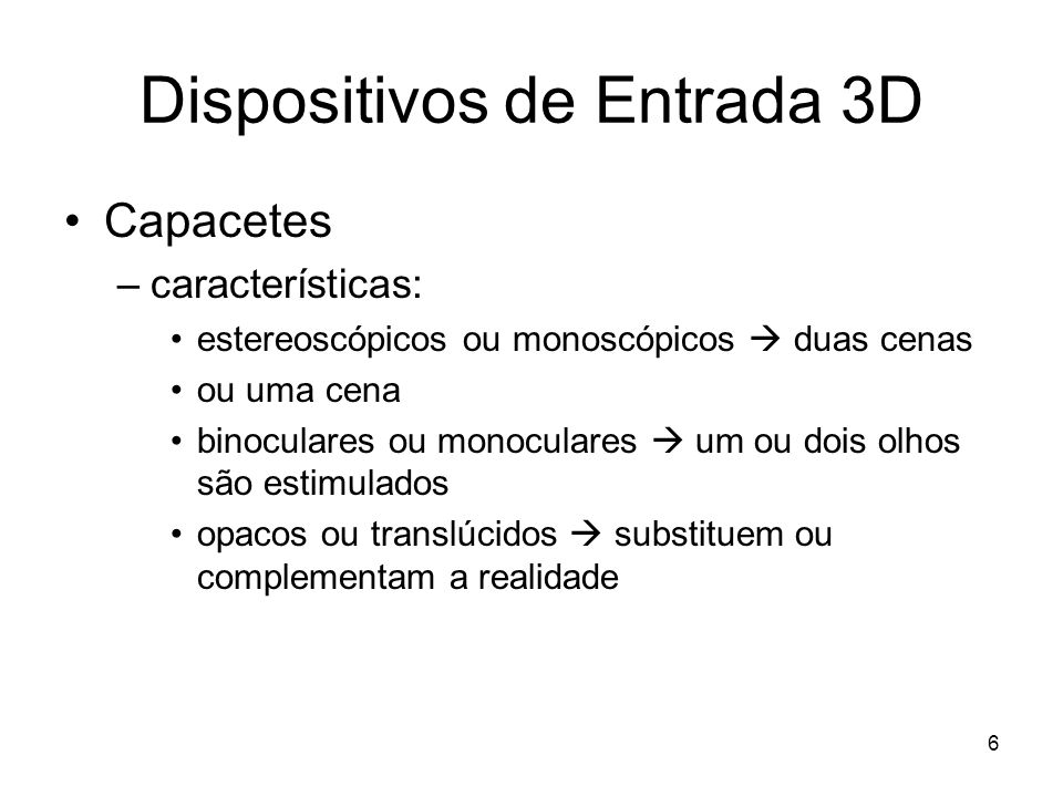 Dispositivos de Entrada 3D