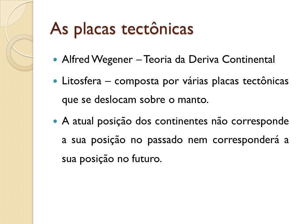 As placas tectônicas Alfred Wegener – Teoria da Deriva Continental