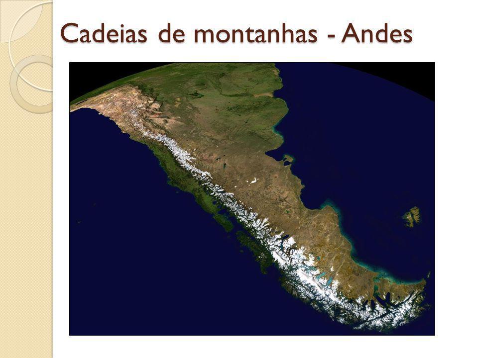 Cadeias de montanhas - Andes