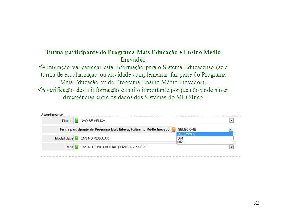 Turma participante do Programa Mais Educação e Ensino Médio Inovador