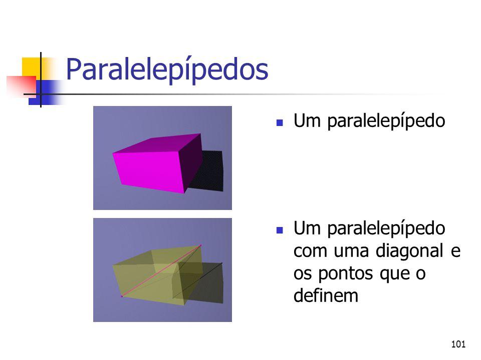 Paralelepípedos Um paralelepípedo