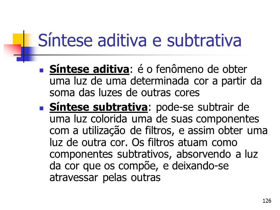Síntese aditiva e subtrativa