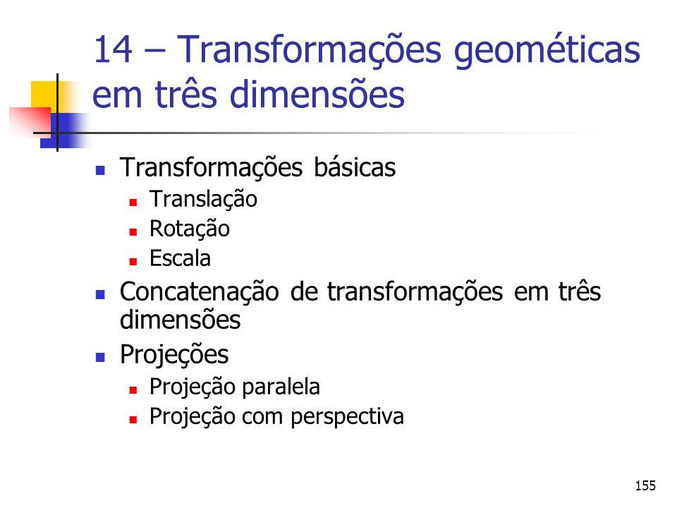 14 – Transformações geométicas em três dimensões