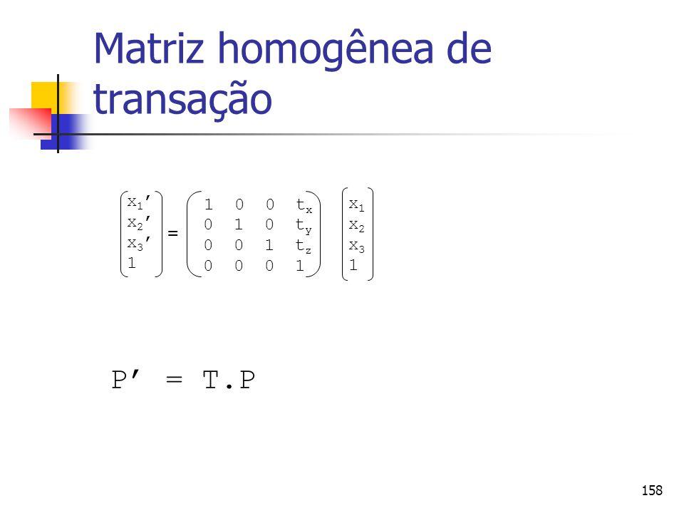 Matriz homogênea de transação