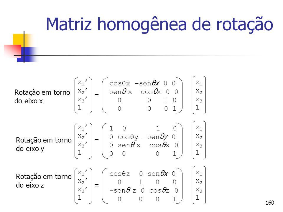 Matriz homogênea de rotação