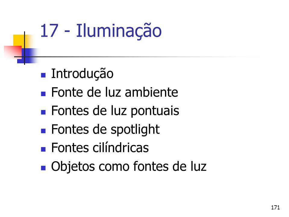 17 - Iluminação Introdução Fonte de luz ambiente