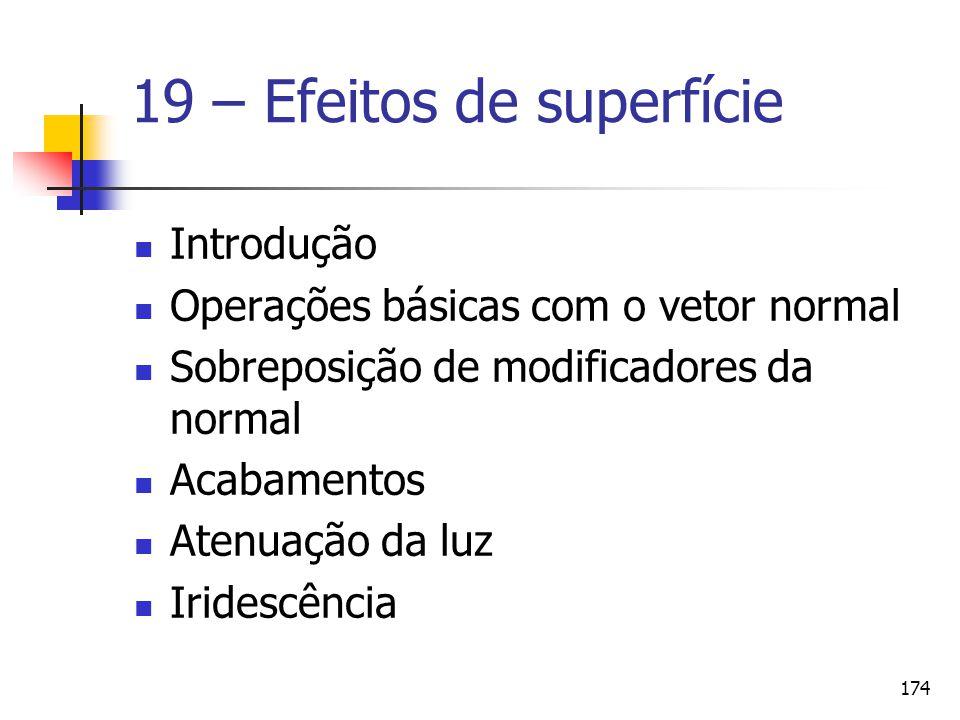 19 – Efeitos de superfície