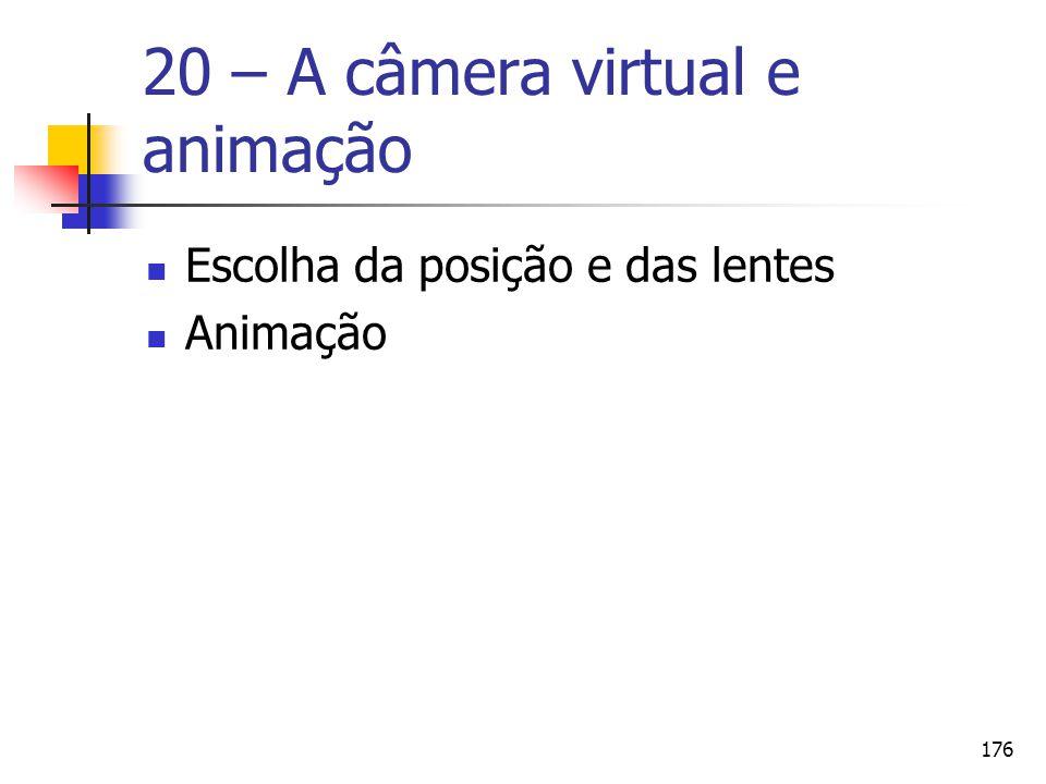 20 – A câmera virtual e animação
