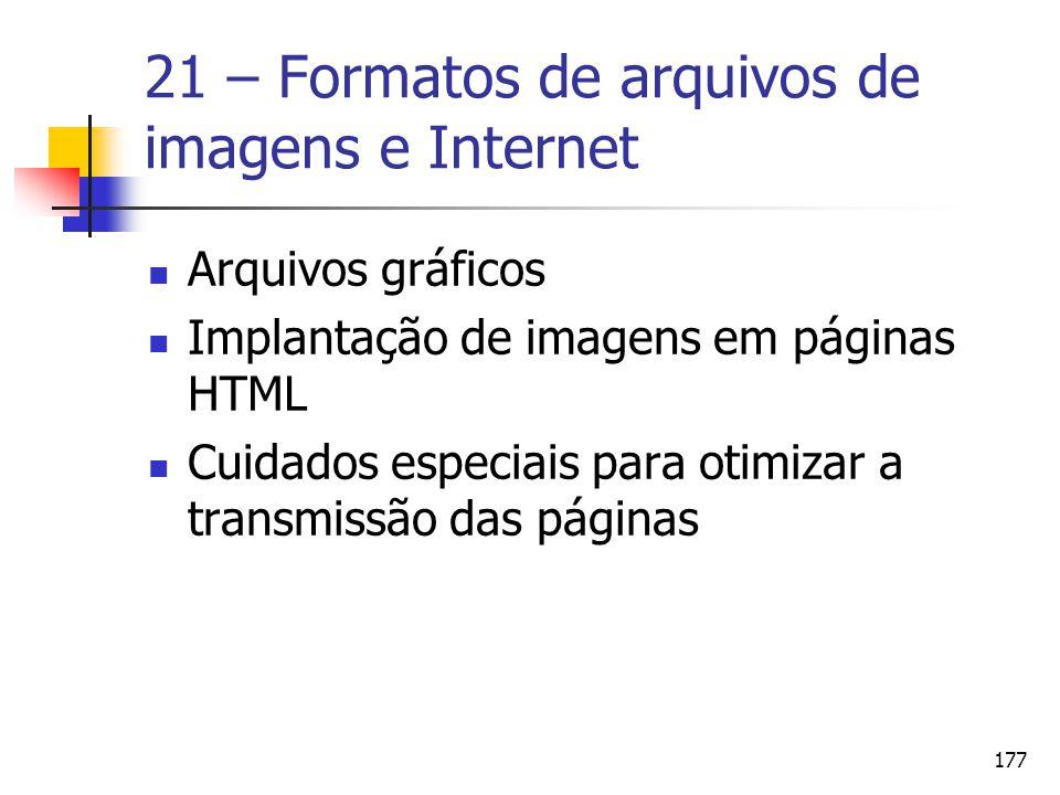21 – Formatos de arquivos de imagens e Internet
