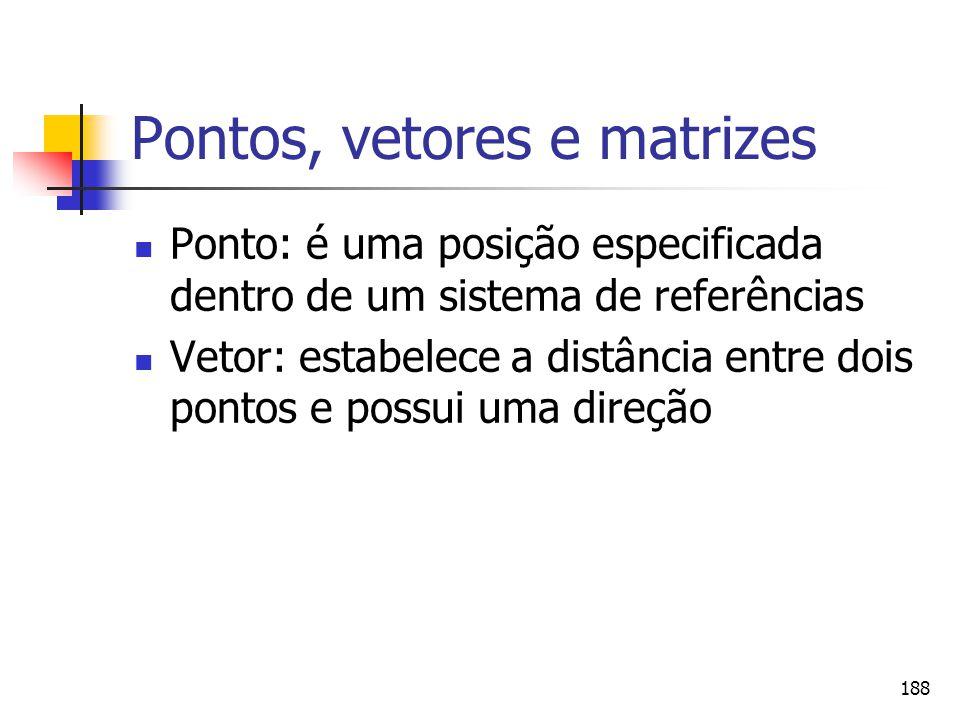 Pontos, vetores e matrizes