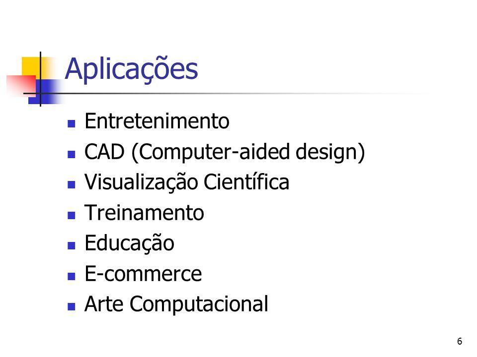 Aplicações Entretenimento CAD (Computer-aided design)
