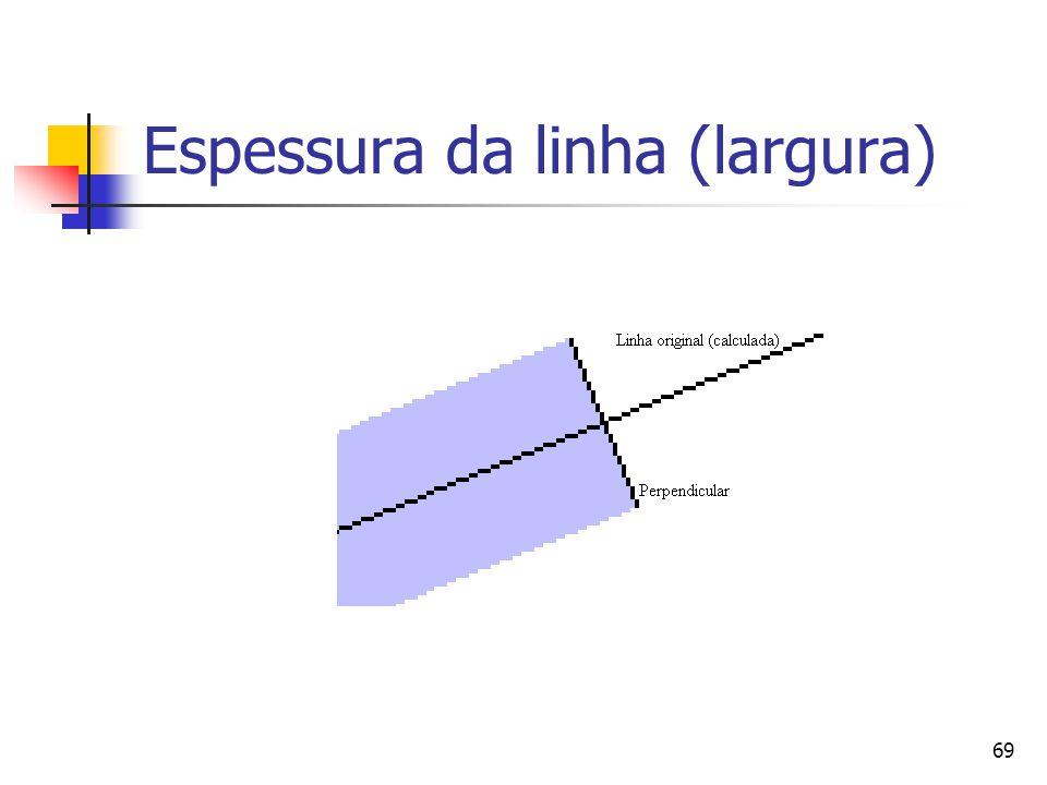 Espessura da linha (largura)