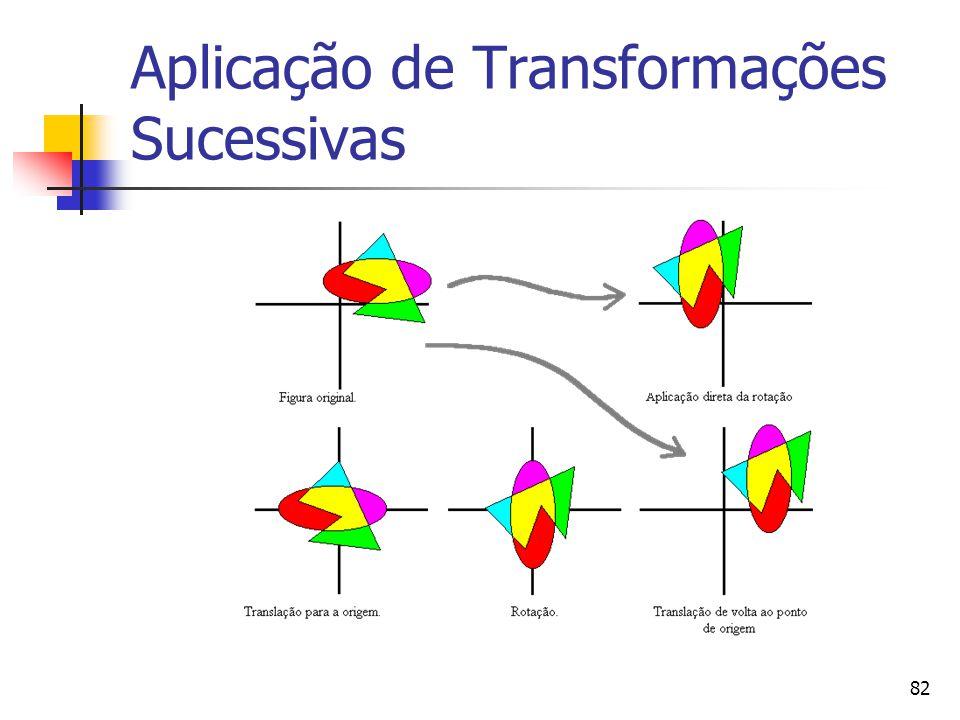 Aplicação de Transformações Sucessivas