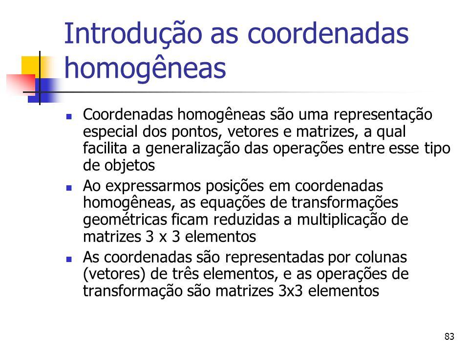 Introdução as coordenadas homogêneas