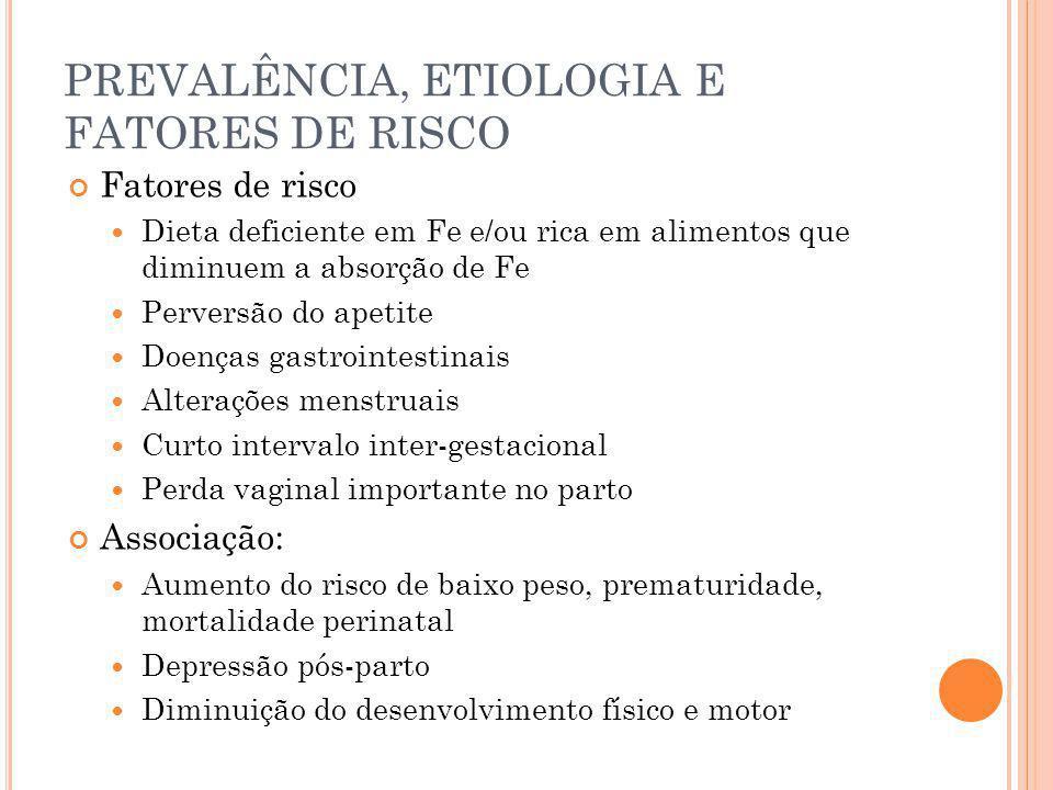 PREVALÊNCIA, ETIOLOGIA E FATORES DE RISCO