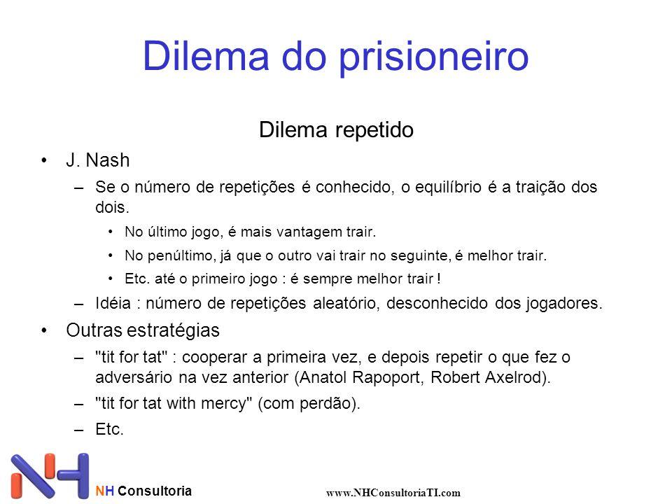 Dilema do prisioneiro Dilema repetido J. Nash Outras estratégias