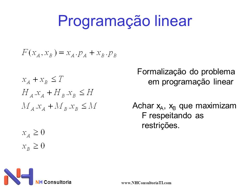 Formalização do problema em programação linear