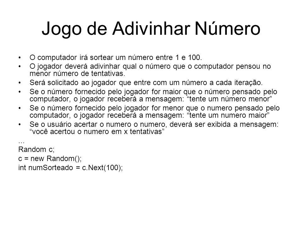Jogo de Adivinhar Número