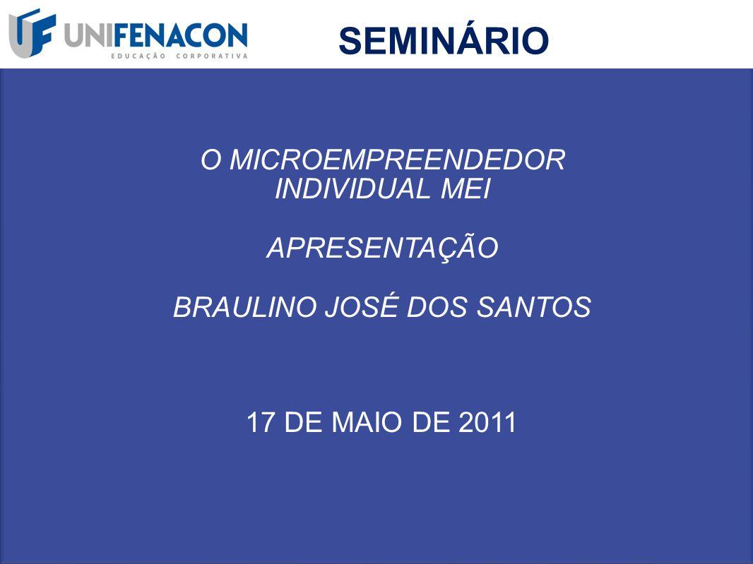 SEMINÁRIO O MICROEMPREENDEDOR INDIVIDUAL MEI APRESENTAÇÃO