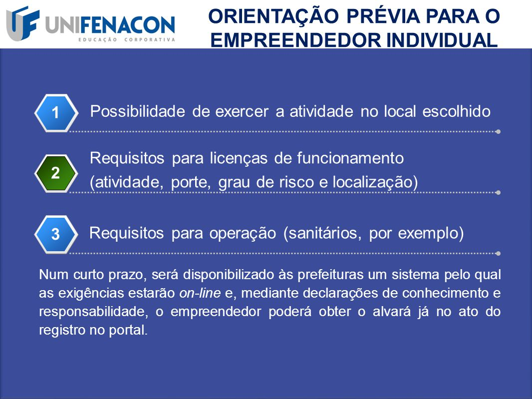ORIENTAÇÃO PRÉVIA PARA O EMPREENDEDOR INDIVIDUAL