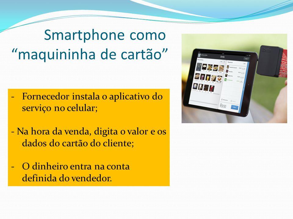 Smartphone como maquininha de cartão