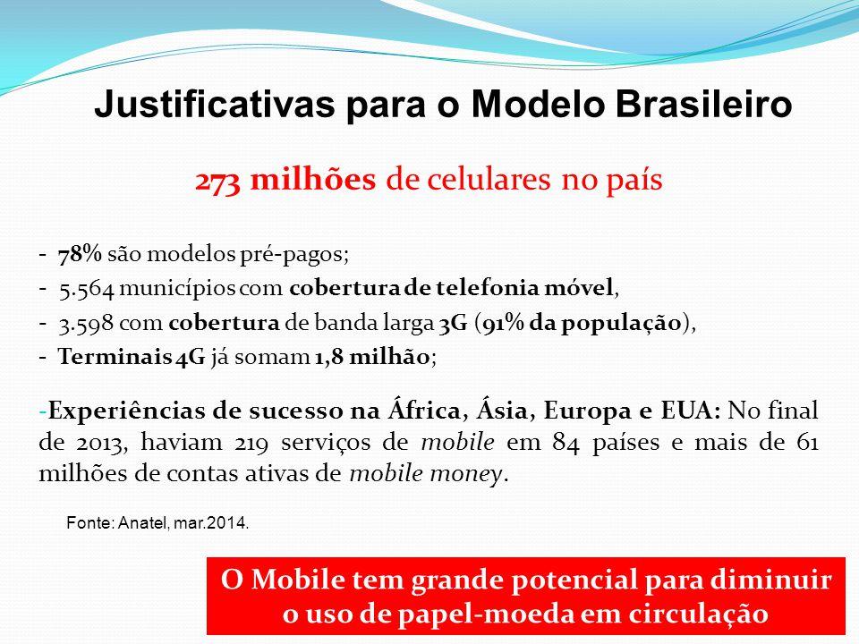 Justificativas para o Modelo Brasileiro