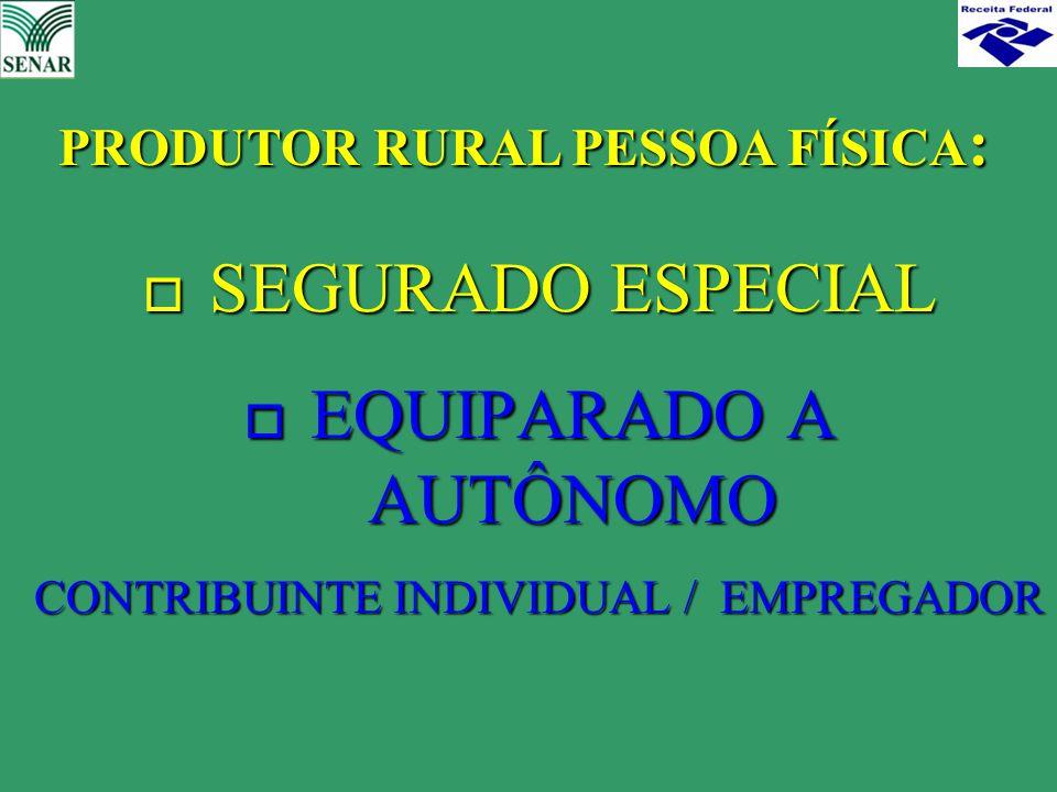 PRODUTOR RURAL PESSOA FÍSICA: