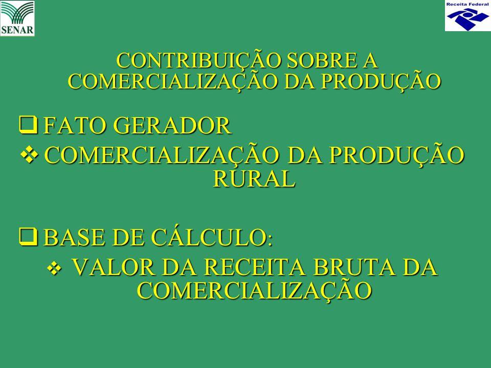 COMERCIALIZAÇÃO DA PRODUÇÃO RURAL