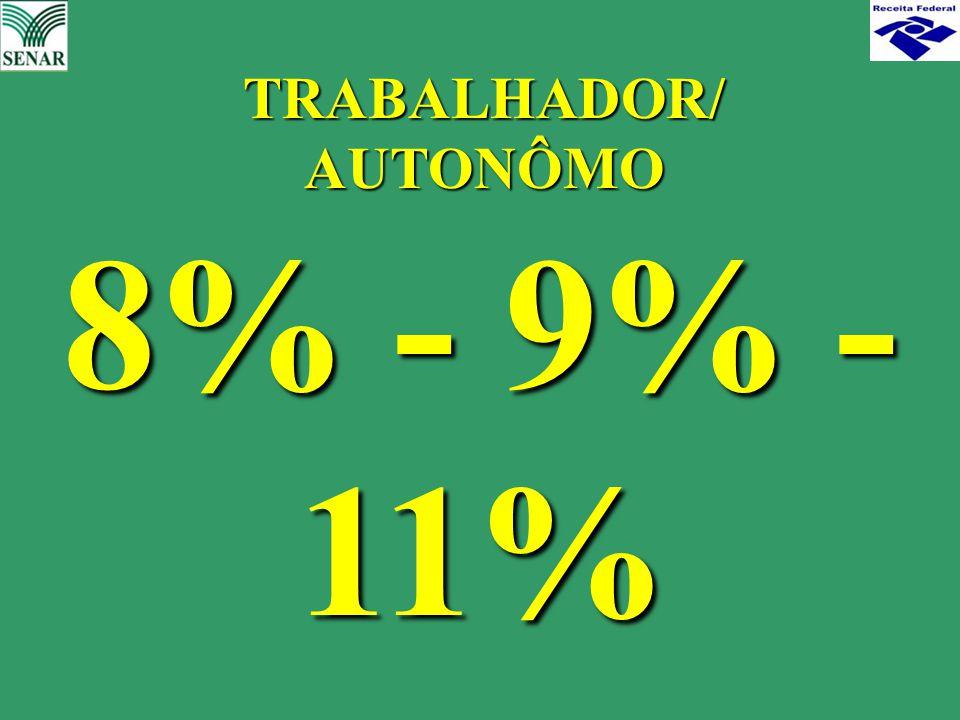 TRABALHADOR/ AUTONÔMO