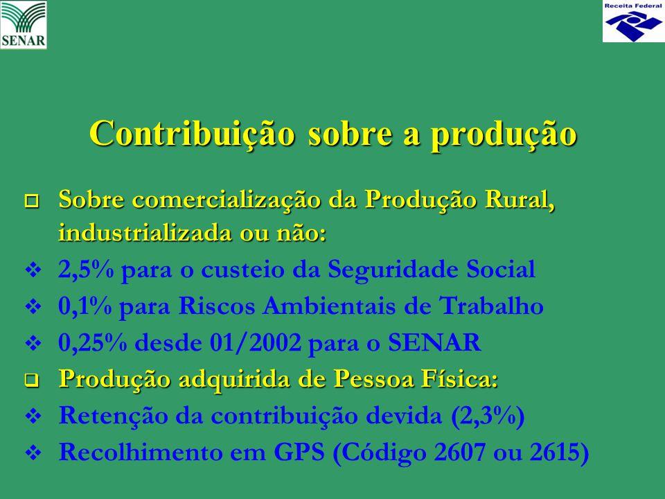 Contribuição sobre a produção