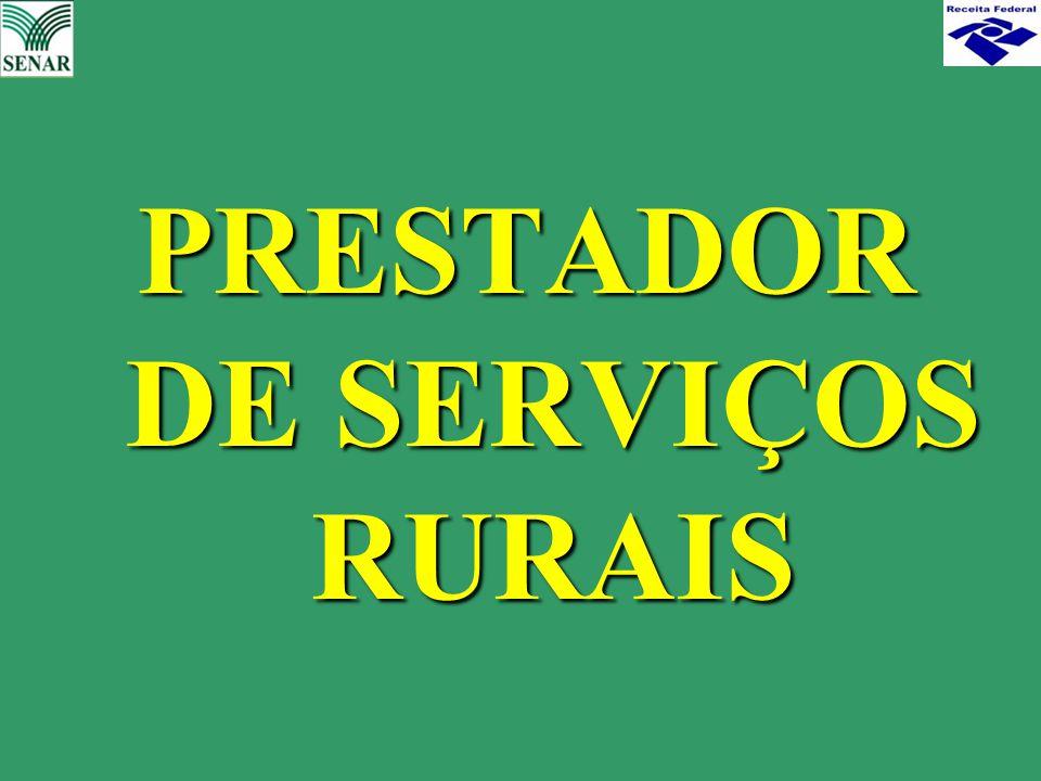 PRESTADOR DE SERVIÇOS RURAIS