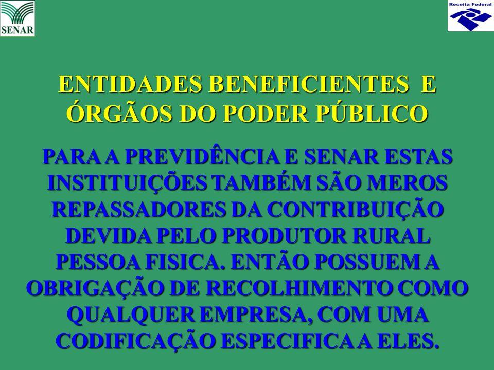 ENTIDADES BENEFICIENTES E ÓRGÃOS DO PODER PÚBLICO