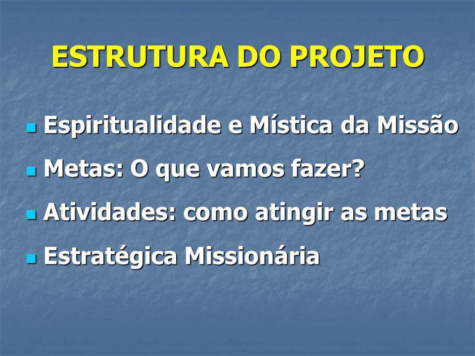 ESTRUTURA DO PROJETO Espiritualidade e Mística da Missão