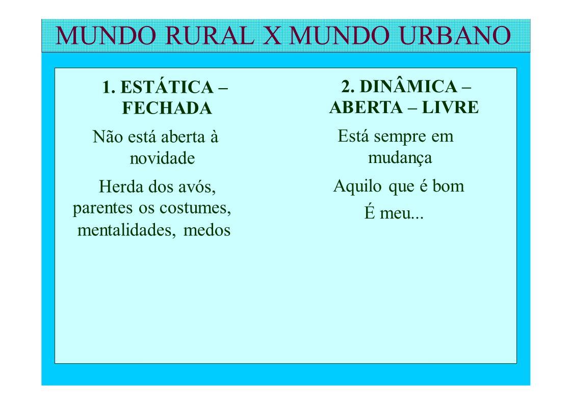 MUNDO RURAL X MUNDO URBANO