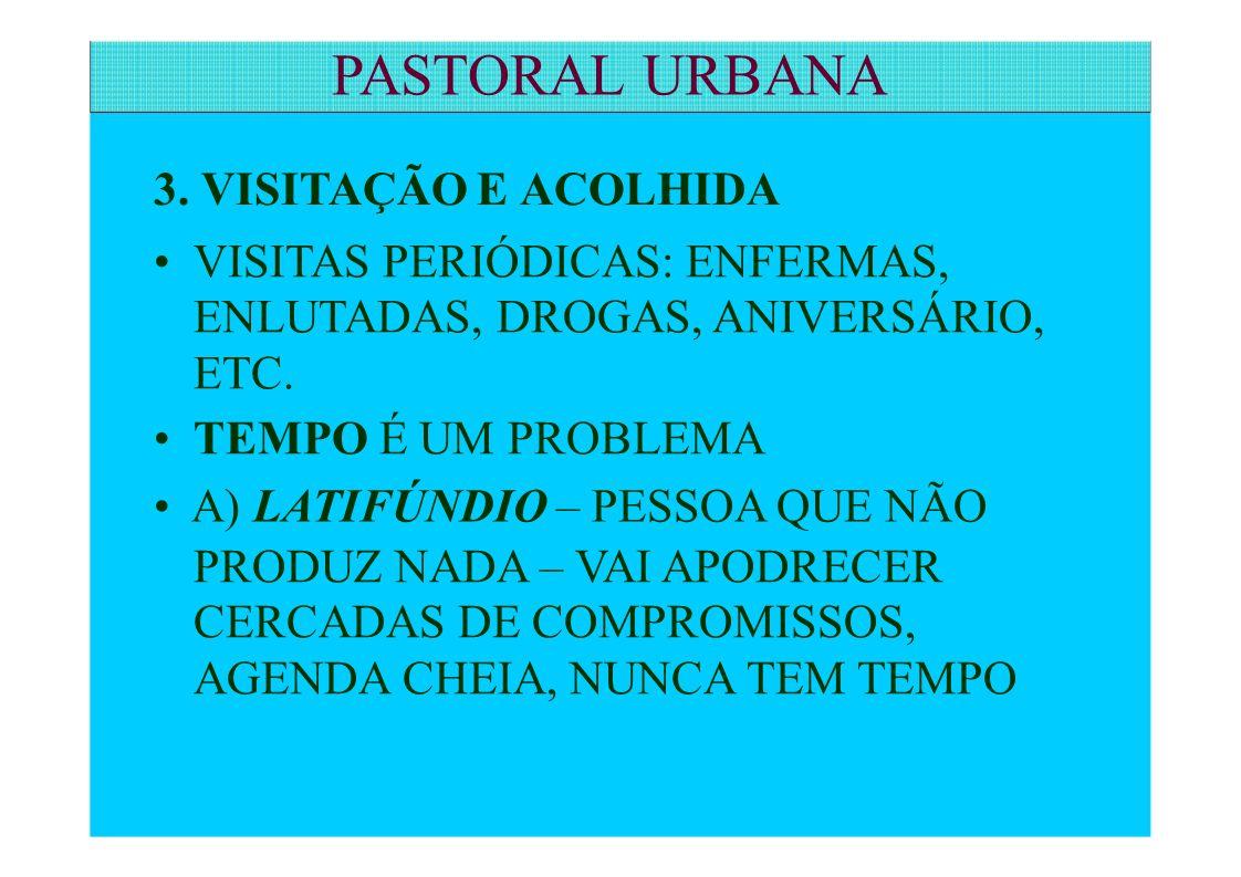 PASTORAL URBANA 3. VISITAÇÃO E ACOLHIDA