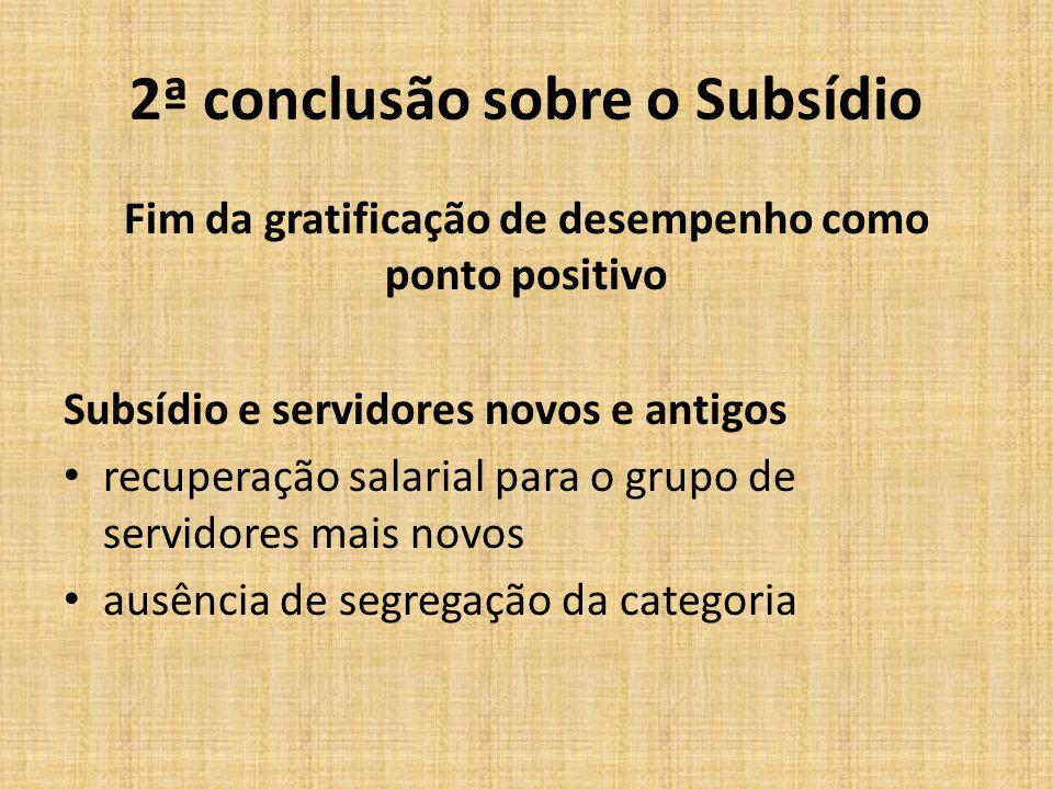 2ª conclusão sobre o Subsídio