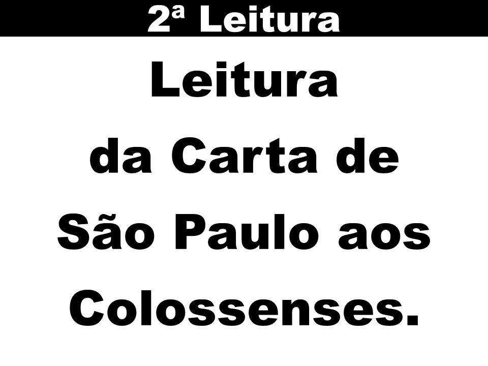 2ª Leitura Leitura da Carta de São Paulo aos Colossenses.
