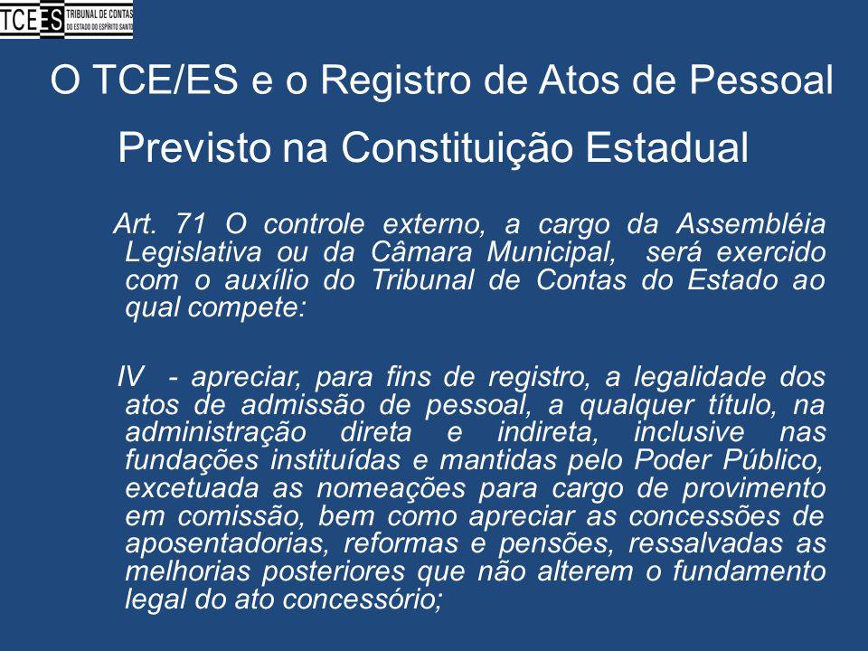 O TCE/ES e o Registro de Atos de Pessoal