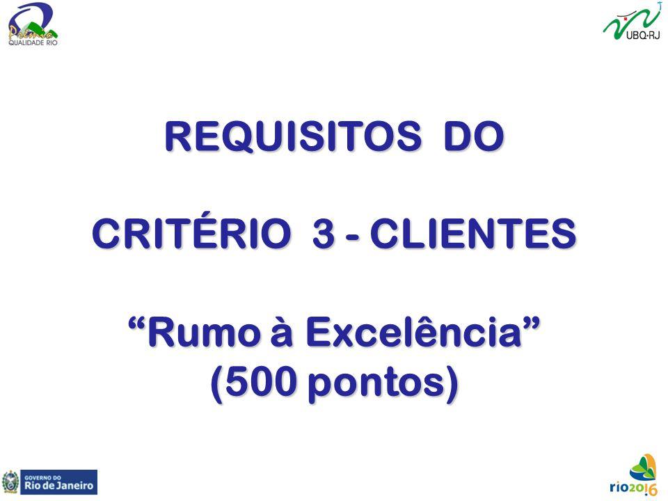 REQUISITOS DO CRITÉRIO 3 - CLIENTES Rumo à Excelência (500 pontos)