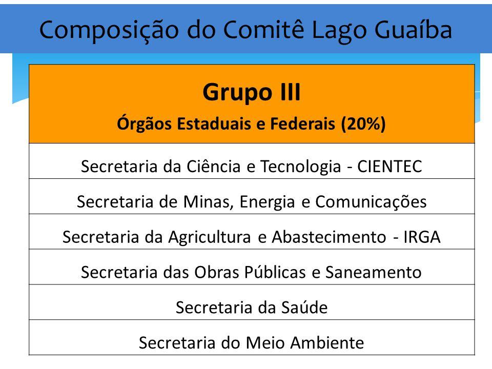 Composição do Comitê Lago Guaíba