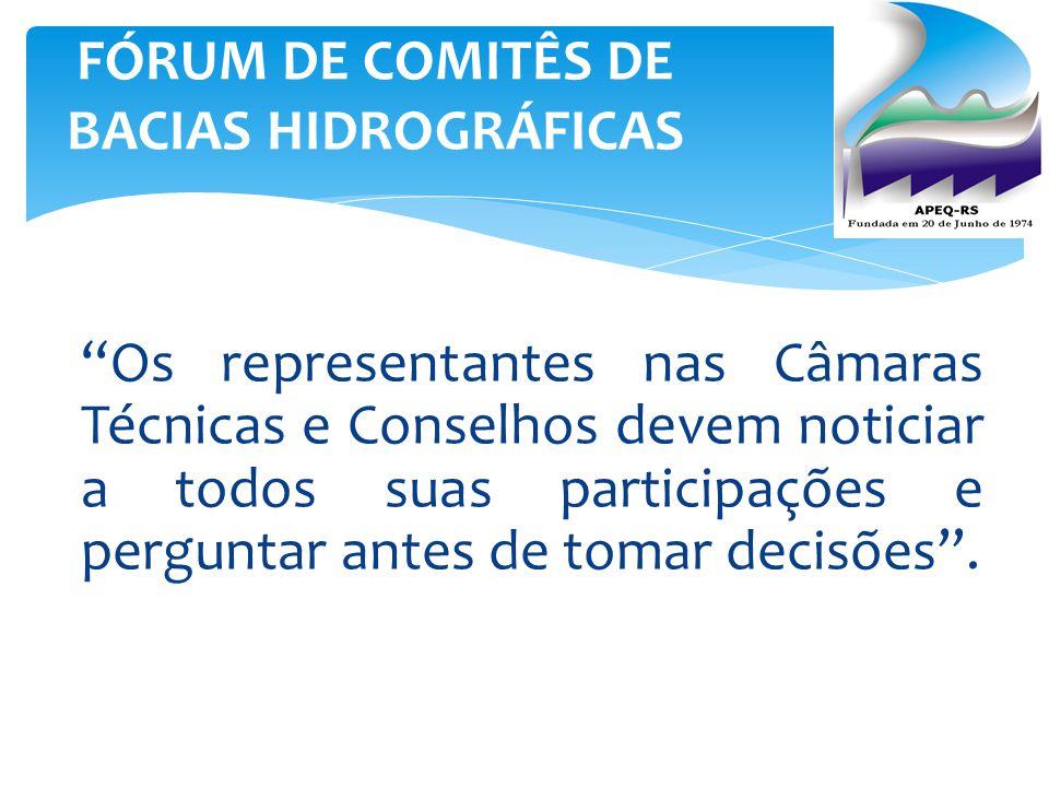 FÓRUM DE COMITÊS DE BACIAS HIDROGRÁFICAS