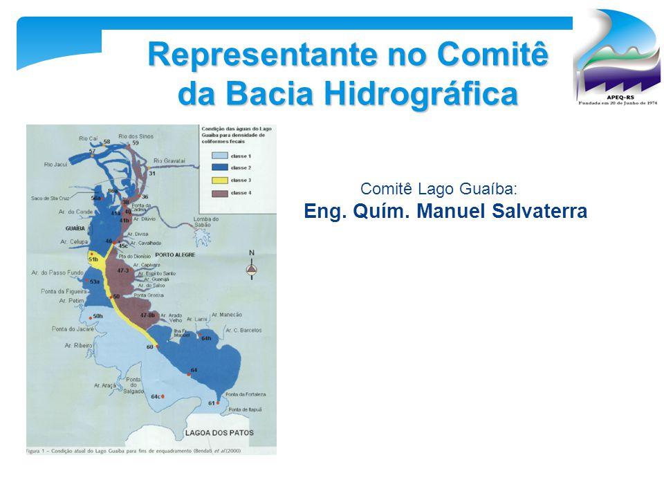 Representante no Comitê da Bacia Hidrográfica