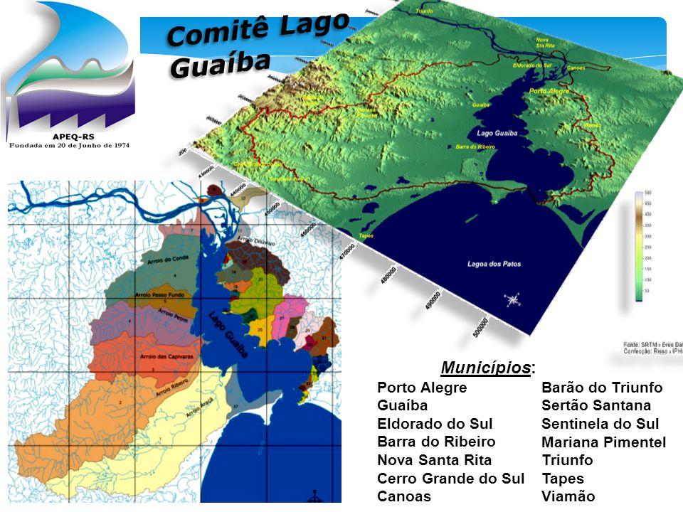 Comitê Lago Guaíba Municípios: Porto Alegre Guaíba Barão do Triunfo